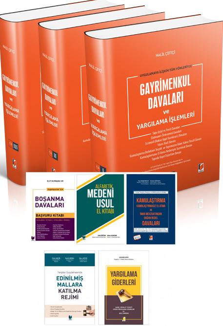 Asliye Hukuk Hakimleri için Kampanya 2 (Gayrimenkul Davaları, Boşanma Davaları, Alfabetik Medeni Usul El Kitabı, Kamulaştırma Davaları, Mal Rejimleri, Yargılama Giderleri)
