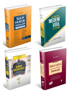 Sulh Hukuk Hakimleri için Kampanya (4 Kitap) (Sulh Hukuk Davaları + Alfabetik Medeni Usul El Kitabı + Kira Hukuku + İzale-i Şuyu Davaları)
