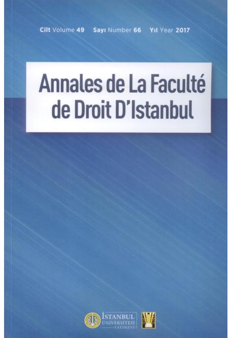 Annales de La Faculte de Droit D'Istanbul