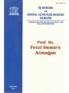 Prof. Dr Fevzi Demir'e Armağan