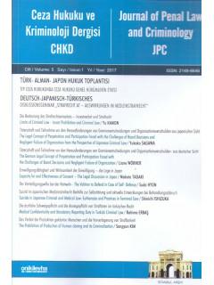 Ceza Hukuku ve Kriminoloji Dergisi Cilt:5 Yıl:2017 Sayı:1