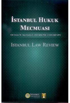 İstanbul Hukuk Mecmuası Cilt:76 Sayı:2