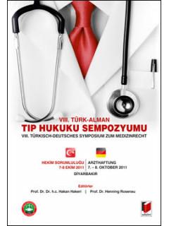 VIII. Türk - Alman Tıp Hukuku Sempozyumu