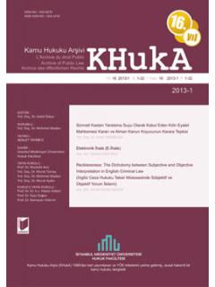 KHukA - Kamu Hukuku Arşivi Yıl:2013 Cilt:13 Sayı:1