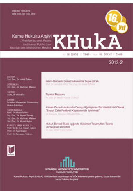 KHukA - Kamu Hukuku Arşivi Yıl:2012 Cilt:13 Sayı:2