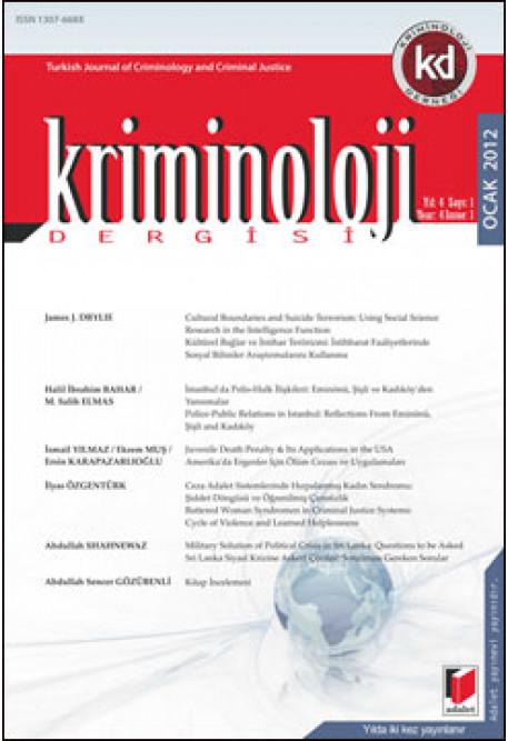 Kriminoloji Dergisi Yıl:4 Sayı:1