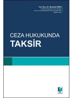 Ceza Hukukunda Taksir