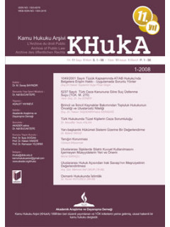 KHukA - Kamu Hukuku Arşivi Yıl:2008 Cilt:6 Sayı:1