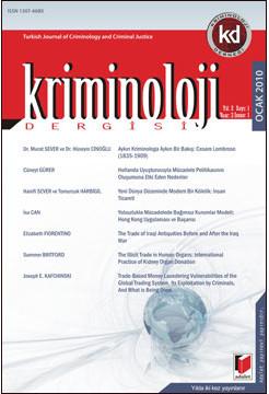 Kriminoloji Dergisi Yıl:2 Sayı:1