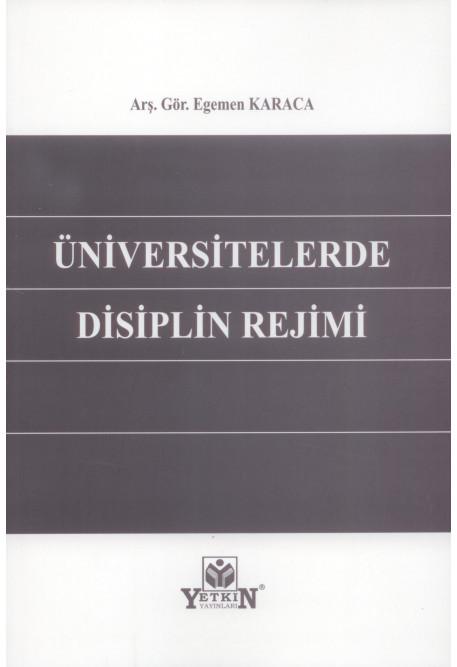 Üniversitelerde Disiplin Rejimi
