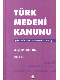 Türk Medeni Kanunu Kişiler Hukuku Mk. 8-117