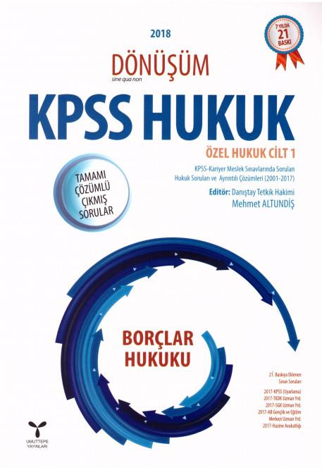 KPSS Hukuk Özel Hukuk Cilt 1 Borçlar Hukuku