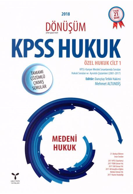 KPSS Hukuk Özel Hukuk Cilt 1 Medeni Hukuk