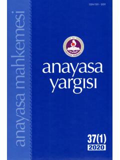 Anayasa Yargısı Dergisi 37 (1) 2020