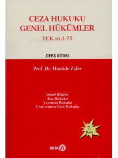 Ceza Hukuku Genel Hükümler TCK m. 1-75 Ders Kitabı