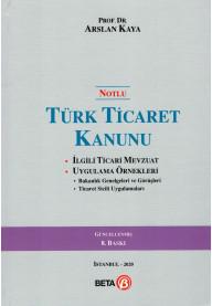 Notlu Türk Ticaret Kanunu