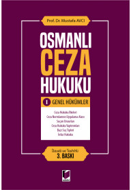 Osmanlı Ceza Hukuku I