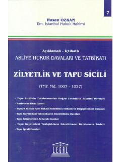 Ziyetlik ve Tapu Sicili TMY Md. 1007-1027