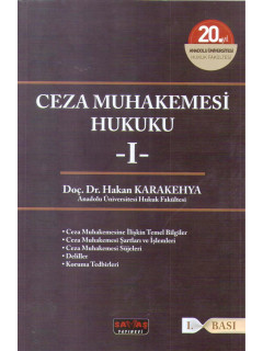 Ceza Muhakemesi Hukuku -I-