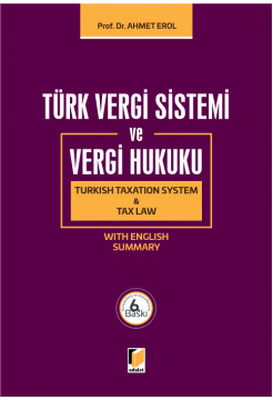Türk Vergi Sistemi ve Vergi Hukuku