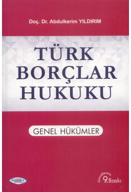 Türk Borçlar Hukuku Genel Hükümler
