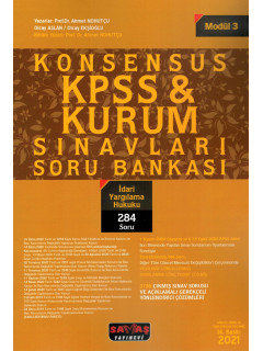 Konsensus KPSS & Kurum Sınavları Soru Bankası (Modül:3) - İdari Yargılama Hukuku