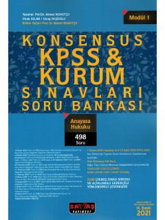 Konsensus KPSS & Kurum Sınavları Soru Bankası (Modül:1) - Anayasa Hukuku