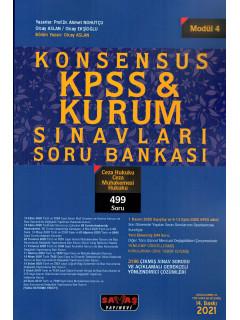 Konsensus KPSS & Kurum Sınavları Soru Bankası (Modül:4) - Ceza Hukuku Ceza Muhakemesi Hukuku