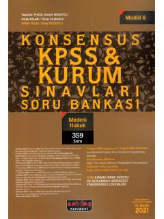 Konsensus KPSS & Kurum Sınavları Soru Bankası (Modül:6) - Medeni Hukuk