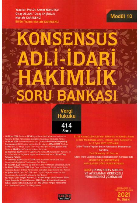 Konsensus Adli-İdari Hakimlik Soru Bankası (Modül 10) - Vergi Hukuku