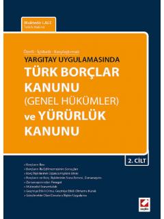 Türk Borçlar Kanunu Genel Hükümler ve Yürürlük Kanunu