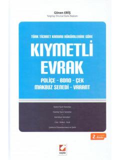 Kıymetli Evrak Poliçe - Bono - Çek - Makbuz Senedi - Varant