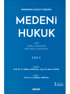 Medeni Hukuk Cilt I