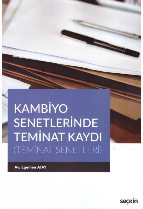 Kambiyo Senetlerinde Teminat Kaydı