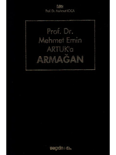 Prof. Dr. Mehmet Emin Artuk'a Armağan