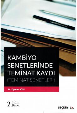 Kambiyo Senetlerinde Teminat Kaydı (Teminat Senetleri)