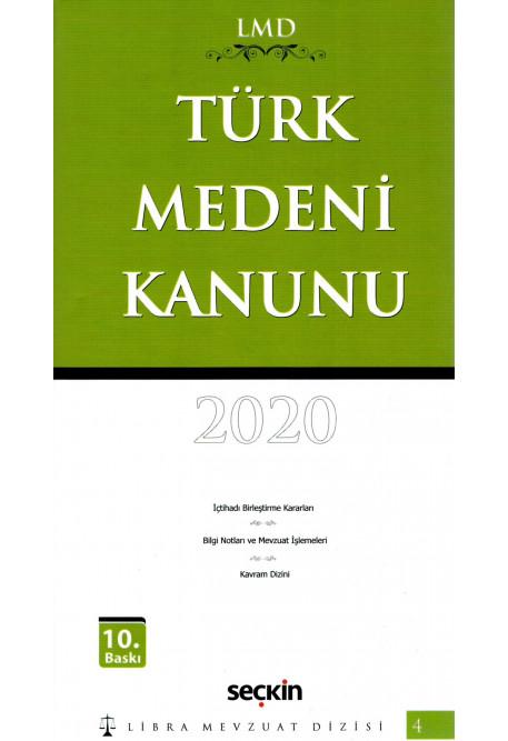 Türk Medeni Kanunu Libra Mevzuat Dizisi 2020