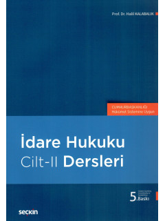 İdare Hukuku Dersleri Cilt-II