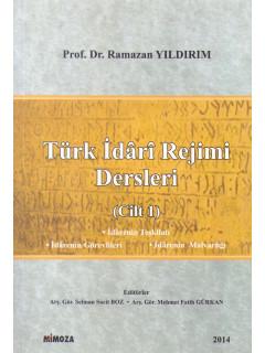 Türk İdari Rejimi Dersleri