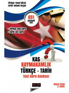 Kaymakamlık Türkçe - Tarih Test Soru Bankası